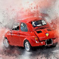 Amazing #fiat500 #abarth595 from our friends at Tasteful Drives! Do you like? Digital downloads are available via the link in bio, ready to print on paper canvas and more!