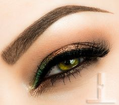 """""""Pop of color"""" by Linzlewsions using Makeup Geek eyeshadows in Beaches and Cream, Cocoa Bear, and Shimma Shimma"""