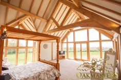 Oak framed extension with windows with views to die for! #Oakmasters #Windows #Views