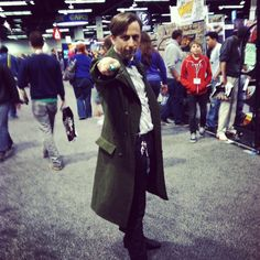 The Eleventh Doctor used his sonic screwdriver on us. #WonderCon #cosplay