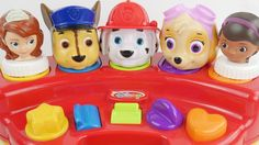 Paw Patrol Pop Up Pals Toy Surprises to Learn Colors Best Kid Video for Learning Colors. We learn the colors orange green red blue pink and purple. Our characters are Sofia the First Doc Mcstuffins Finding Nemo Disney Frozen Elsa Minnie Mouse from Mickey Mouse Clubhouse Chase Marshall Skye from Paw Patrol and Ninja Turtles.  This is an educational learning video with toys that can help with eye-hand coordination fine motor skills and learning English as a second language (ESL).  Subscribe…
