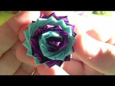 How to Make a Swirled Duct Tape Flower Tutorial!!