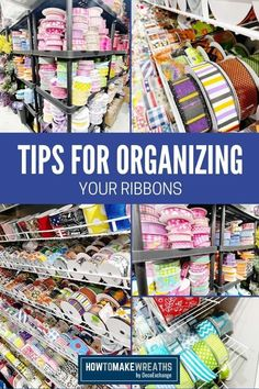 When you're running a business, especially a craft business, it's essential to keep your tools and supplies organized so that you don't waste time searching for the things you need as you craft. Coach Mellie Mel is with us to share some super helpful ribbon organization and ribbon storage ideas that will change how you store your ribbon collection!