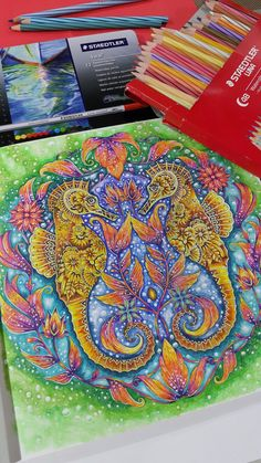 Seahorses, Lost Ocean by Johanna Basford Medium: Staedtler Water Colour Pencil