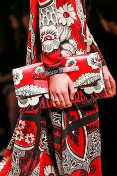 red, black and white get-up (Valentino design - happybuddhabreathing)