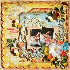 You are a wonderful miracle - Scrapbook.com Done for the round robin at Flying Unicorn Oct.2012