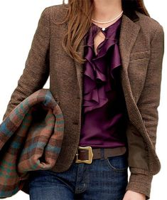 Chaps Checkered Wool Jacket-kohls. Love this!