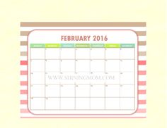 A Sweet Surprise: Free Calendar to Match the Shining Mom Planner!