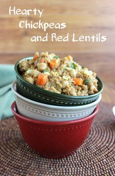 Hearty Chickpeas and Red Lentils
