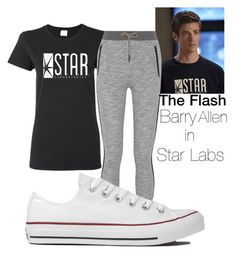 """The Flash: Barry Allen in Star Labs"" by binapaige ❤ liked on Polyvore"