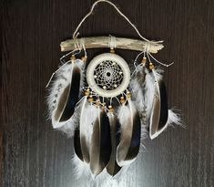 Native America Dreamcatcer Dream catcher Boho Home design Gift Wall hanging Indian style Boho dreamcatcher Indian style by Roadofthedream on Etsy Driftwood Mobile, Dream Catcher Boho, Native American Fashion, Wooden Beads, Make You Smile, Nursery Decor, House Design, Make It Yourself, Pure Products