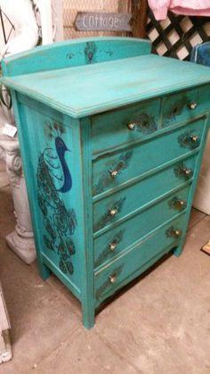 PEACOCK~peacock dresser