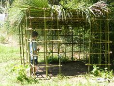 how to build bamboo hut, furniture