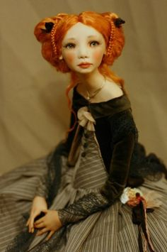 Алиса Филиппова /Alisa Filippova created this doll Pretty Dolls, Beautiful Dolls, Ooak Dolls, Art Dolls, Bjd, Enchanted Doll, Marionette, Valley Of The Dolls, Polymer Clay Dolls