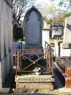 SANSON famille - Montmartre - 20ème division. Paris.Cimetières de France et d'ailleurs