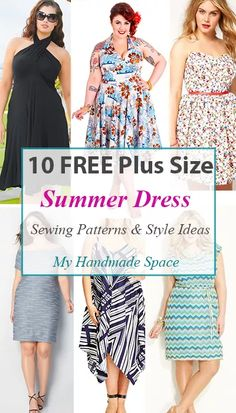 10 FREE Plus Size Summer Dress Patterns - My Handmade SpaceYou can find Plus size sewing and more on our FREE Plus Size Summer Dress Patterns - My Handmade Space Sewing Summer Dresses, Plus Size Summer Dresses, Summer Dress Patterns, Dress Summer, Plus Size Summer Fashion, Plus Size Sewing Patterns, Dress Sewing Patterns, Clothing Patterns, Pattern Dress