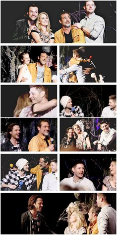 [gifset] The Winchesters are all together for the first time in ten years ❤ ︎<<<oh my heart Mary Winchester, Winchester Boys, Winchester Brothers, Supernatural Convention, Supernatural Jensen, Boy Walking, Two Brothers, Misha Collins, Destiel