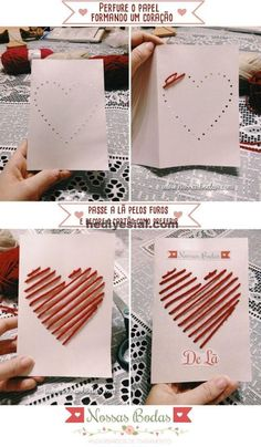 New Diy Kids Crafts Valentines Ideas Valentine Crafts For Kids, Valentines Diy, Diy Crafts For Kids, Craft Ideas, Diy Ideas, Diy Birthday, Birthday Cards, Birthday Design, Handmade Birthday Gifts