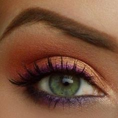 Pink gradient eyeshadow and eyebrow on fleek