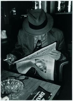 """""""William S. Burroughs in the Paris Hotel Montalembert just before leaving for Rome"""", May 1989. @designerwallace"""
