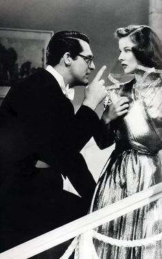 """Cary Grant and Kate Hepburn in """"Bringing Up Baby"""", (1938)"""