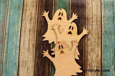 Halloween Ghost Unfinished Wood Ghost Halloween Ornament Halloween Decor - http://evilstyle.com/halloween-ghost-unfinished-wood-ghost-halloween-ornament-halloween-decor