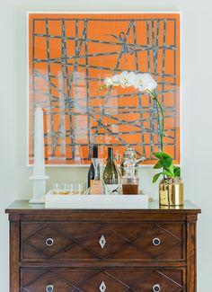 Hermes scarf framed | Blueprint Bliss