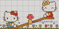 Hello Kitty cross-stitch pattern