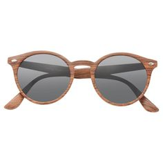 Round Frame Sunglasses, Optician, Prescription Lenses, Sunglass Frames, Types Of Fashion Styles, Wood Grain, Unisex, Crystals, Dark