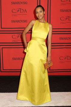 Kerry Washington in a Jason Wu autumn/winter 2013-14 dress.