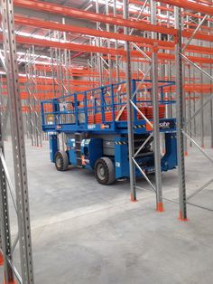 Installing beams at the new Hayward Pool Products warehouse
