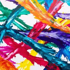 WHO LOVES COLOUR?  my latest SOLD artwork close up.  IT