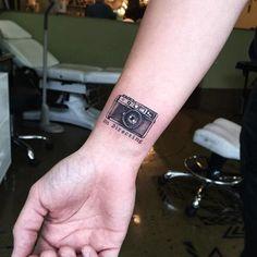"Camera Tattoo ""On directing"". Funny, small and definetly inspiration! Camera Tattoo Design, Camera Tattoos, Forearm Tattoo Design, Wrist Tattoo, Photographer Tattoo, Tattoo Photography, Photography Camera, Mini Tattoos, Cute Tattoos"