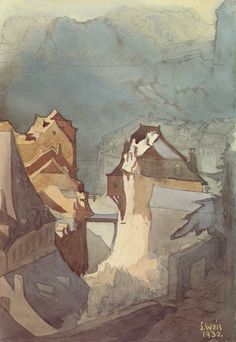 Sosthène Weis (1872–1941) was a prolific Luxembourg artist who painted over 5,000 watercolors, mostly of Luxembourg and its surroundings. He also worked as an architect, designing some of Luxembourg's most imposing buildings.