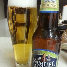 Samuel Adams Noble Pils by Boston Beer Company (Samuel Adams)  Light golden yellow, thick fluffy head. Honey sweetness balanced with citrus and pine. Crisp and dry. An excellent pils!