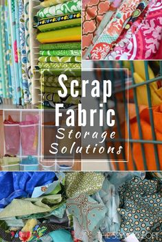 NSM How to Organize Fabric Scraps - The Sewing Loft Keep your fabric stash ready for use with these easy tips. 10 useful tips to help organize fabric scraps in your studio space. The Sewing Loft Sewing Room Storage, Sewing Room Organization, My Sewing Room, Fabric Storage, Ribbon Storage, Organizing Fabric Scraps, Organize Fabric, Sewing Spaces, Ideas Para Organizar