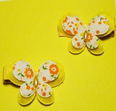 Set of Butterfly Hair Clips by JulietsJems on Etsy, $4.00