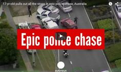 17-yr-old Pulls Out All The Stops In Epic Police Chase, Australia Police in the Australian state of Queensland have released dramatic video showing a 17-year-old unlicensed driver engage in a car chase near Brisbane on Wednesday (12 November). The car is shown swerving through streets and highways, sometimes driving on the wrong side of the road and on...