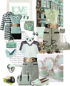 """Something's Are ""Mint"" To Be"" by monica-jordan ❤ liked on Polyvore"