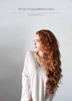 Best Pinterest Hair Tutorials - My To Go Voluminous Curls - Check Out These Super Cute And Super Simple Hairstyles From The Best Pinterest Hair Tutorials Including Styles Like Messy Buns And Half Up Half Down Hairdos. Dutch Braids Are Super Hot Right Now