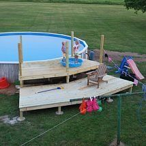Our Pool Deck Project Decks Designs End Of Day Two Lower Complete Next Will Be Steps Railings And Gate