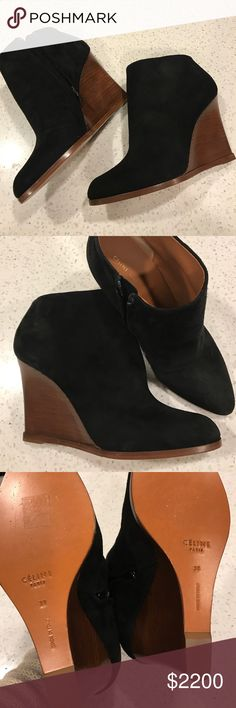 ⚡️FLASH SALE⚡️🆕LISTING! CELINE SUEDE BOOT Brand new!  Been hiding in my closet. Paid retail $2200!  Will not let go for a ton less as these are completely SOLD OUT and have never been worn. Lmk if you have interest. Marked 38 but best fit a 7.5. ❤️ Celine Shoes Ankle Boots & Booties