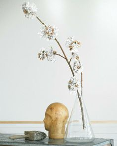 Recycled Paper Flower Branch from Wise Craft by Blair Stocker