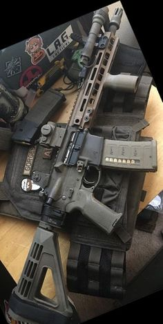 Build Your Sick Cool Custom Assault Rifle Firearm With This Web Interactive Firearm Builder with ALL the Industry Parts - See it yourself before you buy any parts Military Weapons, Weapons Guns, Guns And Ammo, Airsoft, Custom Guns, Custom Ar15, M4 Carbine, Ar Pistol, Battle Rifle