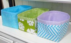 Nesting Fabric Storage Boxes | These DIY organizers are perfect for your sewing room!