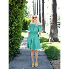 849088718db Punky Housewife Off The Shoulder Dress in Emerald Green Housewife