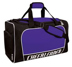 Master the art of travel with the Master Duffle Bag by Chassé®. Keep your clothing secure from your cheer shoes with its separate shoe compartment. Cheerleading Workouts, Cheerleading Uniforms, Cheer Hair Bows, Cheer Shoes, Duffle, Master, Travel Bags, Gym Bag, Shoulder Strap