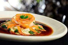 Ussuzukuri de haddock, prato do restaurante JAM – Japanese Food para o Dia Namorados (Foto: Tadeu Brunelli / Divulgação)