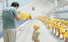 Swimming Lesson by free-picture: Adorable! Thanks to e m m a . r! #Photography #Swimming_Lesson #Kids #Duck