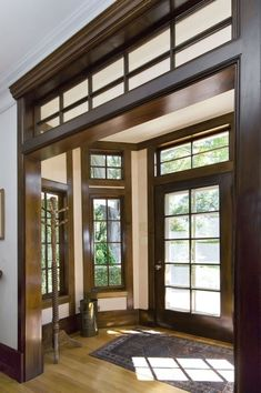 """wood Trim"" Home Design Ideas, Pictures, Remodel and Decor Craftsman Interior, Craftsman Style Homes, Craftsman Bungalows, Craftsman Trim, Craftsman Style Interiors, Craftsman Porch, Craftsman Houses, Interior Rugs, Interior Trim"